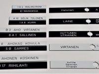 Postilaatikon nimikyltit kaikkiin postilaatikkomalleihin.